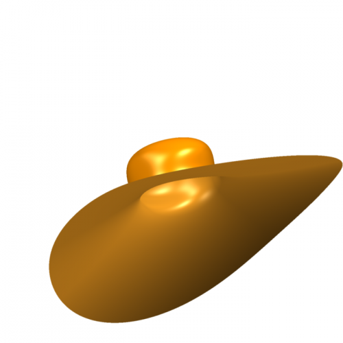 Algebraic surface which looks like a hat